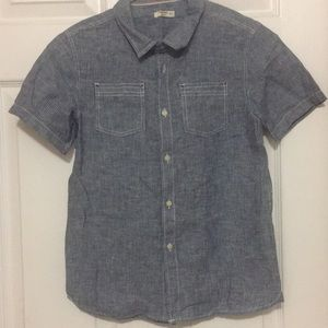 Other - Button down boys cotton shirt . Size 10yrs